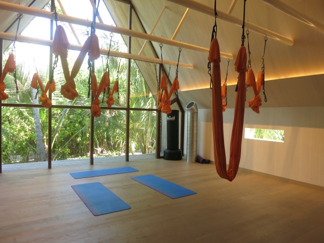 Gravity free yoga at St. Regis Maldives