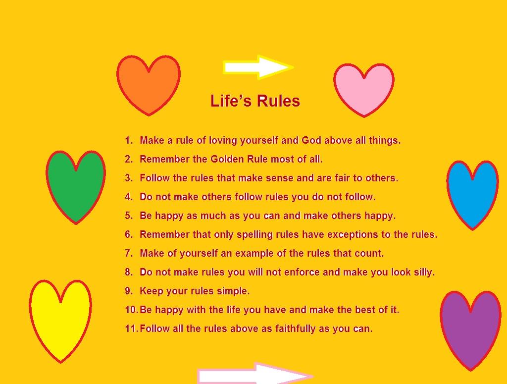 Golden Rules For Living Poem Name Changing Procedure