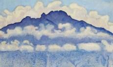 montagne bleue