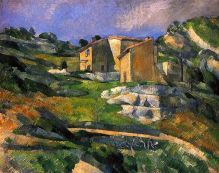 cezanne-maisons-en-provence-tableaux-galerie-arts-decoration-bretagne-auray-golfe-morbihan-attention-a-la-peinture-jean-jacques-rio