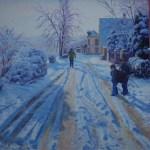 Matin de neige. Michèle Ratel
