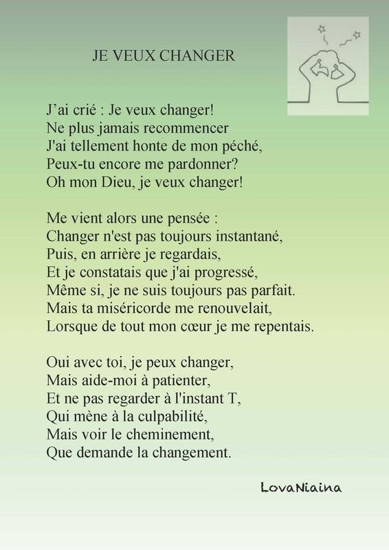 Je Veux Changer De Vie : changer, CHANGER