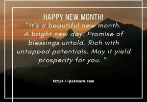 new month wishes and messages