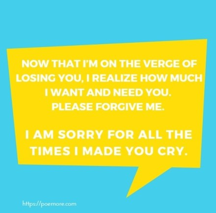 I Am Sorry Letter to Her