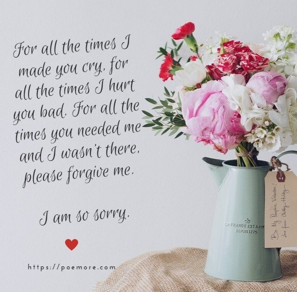 i am sorry my dear