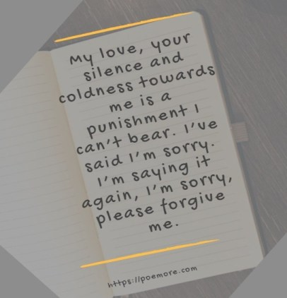 Apology Messages Card
