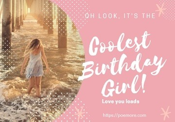 Happy Birthday Messages for a Girl
