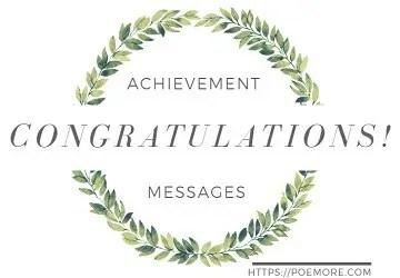 Heartfelt Congratulations on Successful Achievement Messages