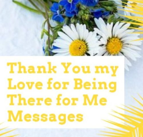 Thank You My Love For Being There For Me Messages
