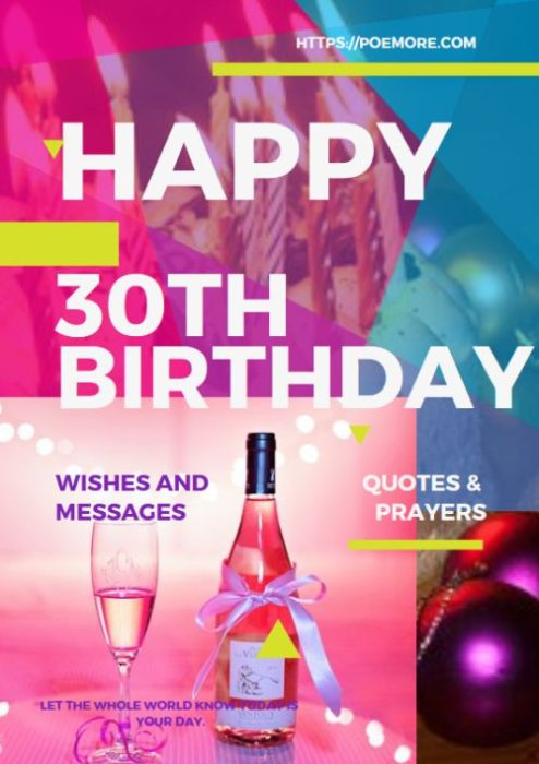 Best Wishes On Your 30th Birthday
