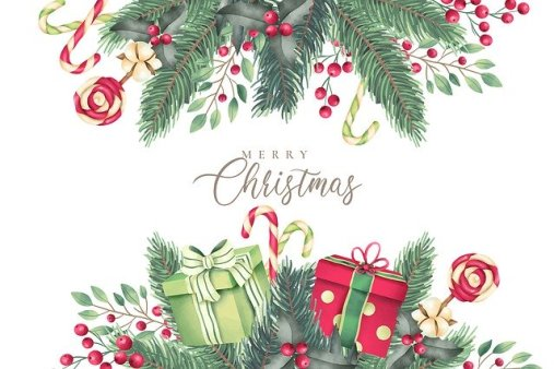 Merry Christmas Message on Card