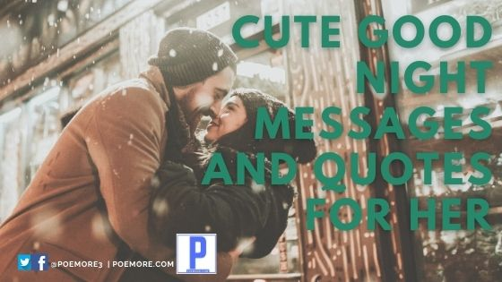 Cute Good Night Messages and Quotes for Her