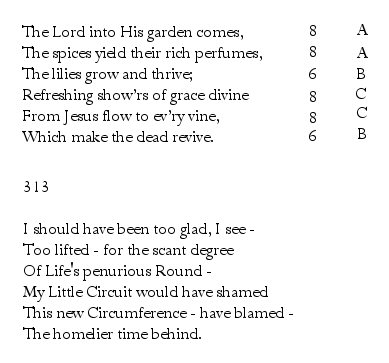 Emily Dickinson Iambic Meter & Rhyme « PoemShape