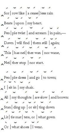 Trochaic Trimeter « PoemShape
