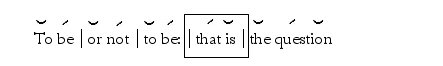 To be or Not to be (Trochaic Scansion)