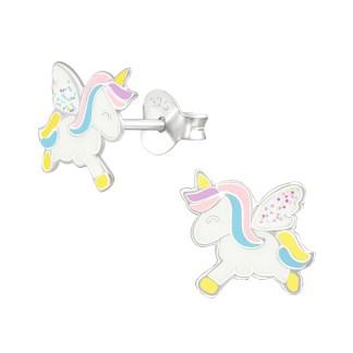 Unicorn oorbellen echt zilver