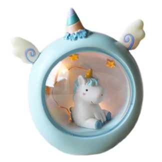 Unicorn lampje blauw