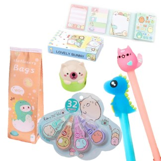 Stationary dino pakket + extra kawaii surprise cadeau