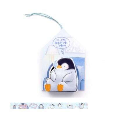 Pinguin deco tape in gave verpakking