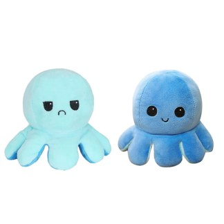 Kawaii Octopus knuffel reversible