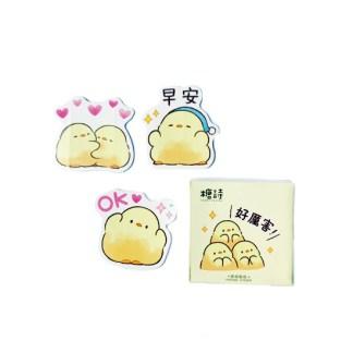 Kawaii kuiken stickers