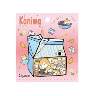Koniwa shiba stickers