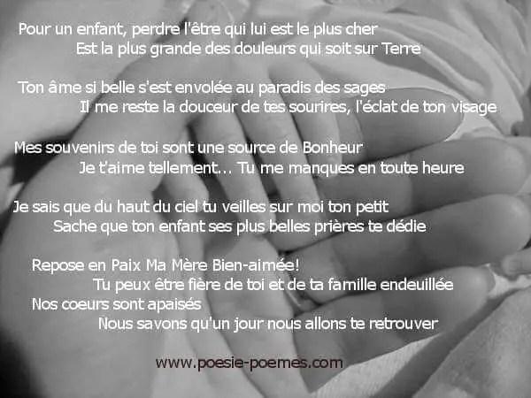 Texte Pour Sa Grand Mere Décédé : texte, grand, décédé, Maman, Poèmes, Mère, Textes, Mamans