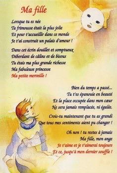 Poeme A Ma Fille Que J Aime : poeme, fille, Poème, Anniversaire, Fille, Cassy