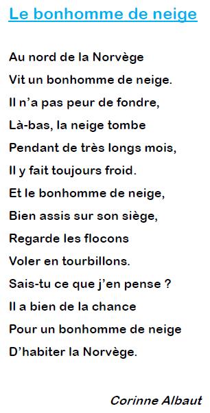 Poésie Le Bonhomme De Neige Corinne Albaut : poésie, bonhomme, neige, corinne, albaut, Poesie, Bonhomme, Neige