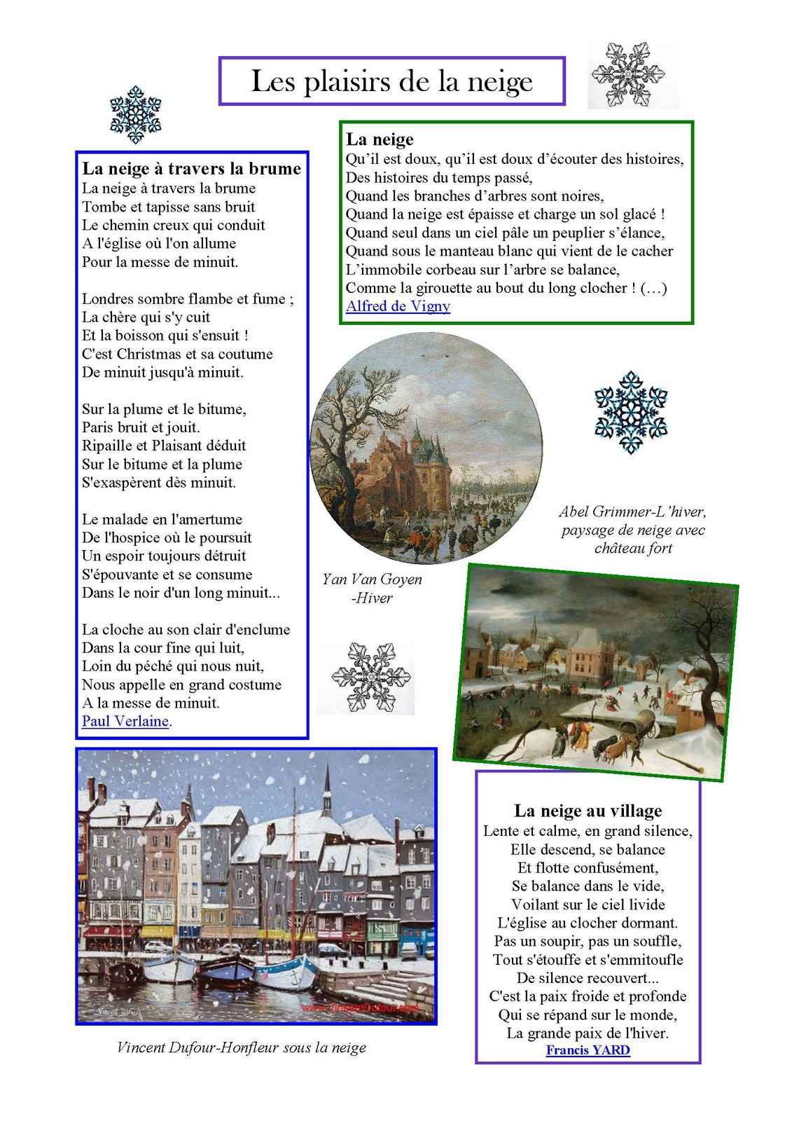 La Neige Au Village Poésie : neige, village, poésie, Poesie, Neige, Village