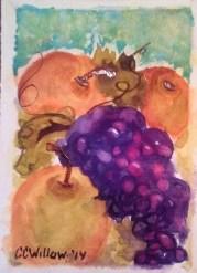 Asian Pears 2 watercolor