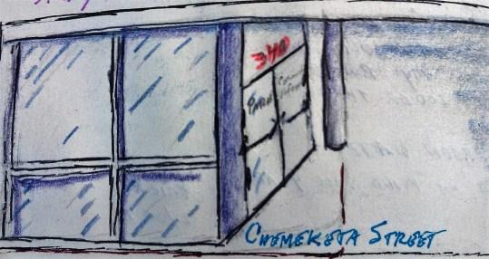 Chemeketa Street pen & colored pencil