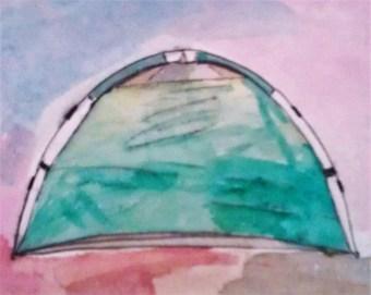 Tent watercolor