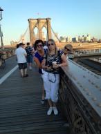 Brooklyn Bridge - we crossed it on foot back and forth!