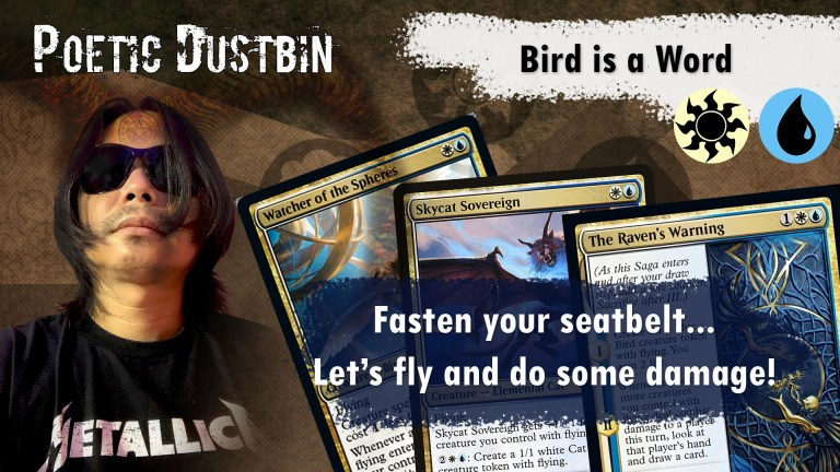 MTG Arena - Kaldheim Azorious Standard Bird Deck with Raven's Warning and Dream Trawler - Poetic Dustbin