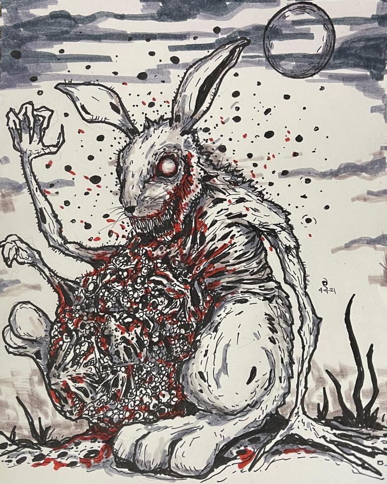 Dark Easter Bunny