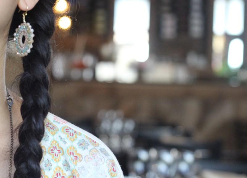 Melita's gifts Vietnamese Earrings With Silk Thread