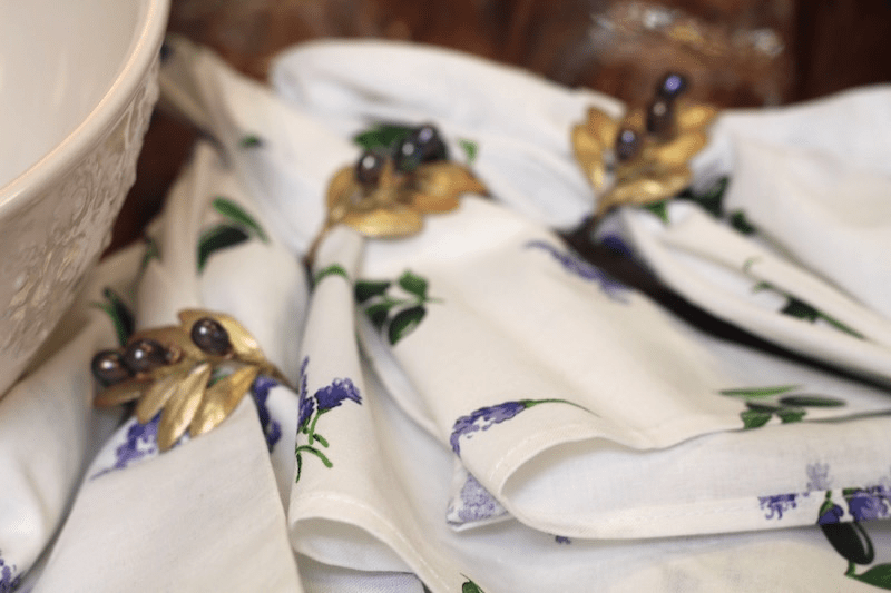 Cloth Napkins With Purple Flowers by L.L. Barkat