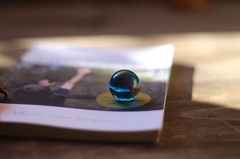 Earth to Poetry With Blue Planet Marble
