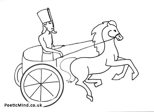 Roman Chariot Drawing Sketch Coloring Page