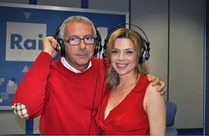 I conduttori Paolo Notari e Benedicta Boccoli.