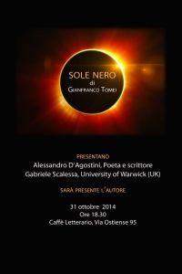 Sole Nero, locandina della presentazione del volume