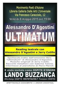 Spettacolo-Concerto Ultimatum con Alessandro D'Agostini, Jerry Cutillo, Lando Buzzanca...