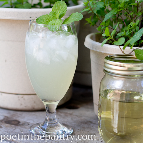 mock mojito and mint-infused simple syrup
