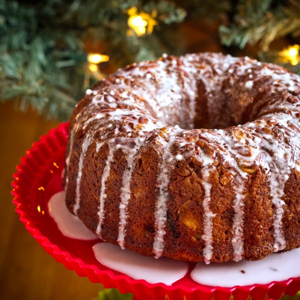 Banana Pineapple Bundt Cake with Coconut Rum Glaze