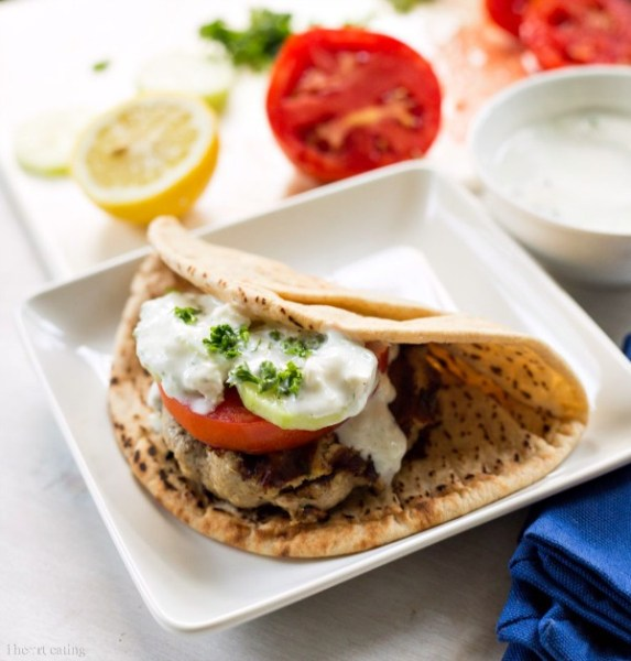 Greek Ground Chicken Burger from I Heart Eating