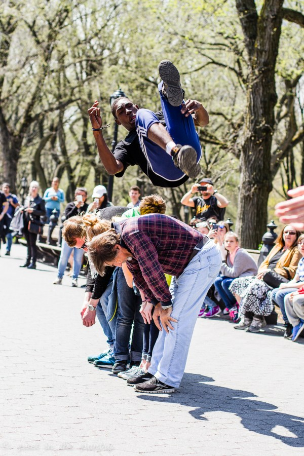 street performers in Central Park, New York - Poet in the Pantry