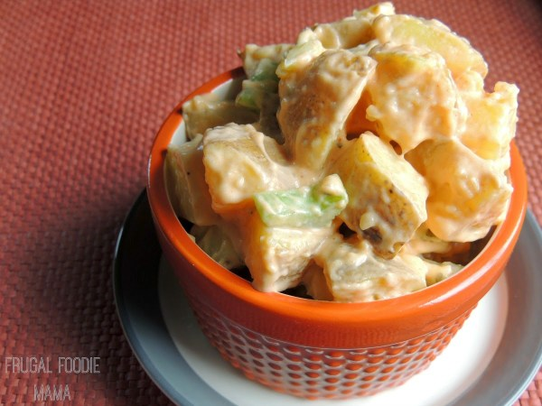 Creamy Buffalo Ranch Potato Salad from The Frugal Foodie Mama