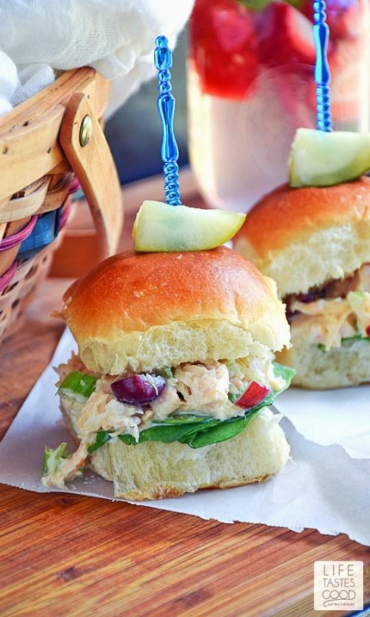 Chicken Salad Sliders from Life Tastes Good
