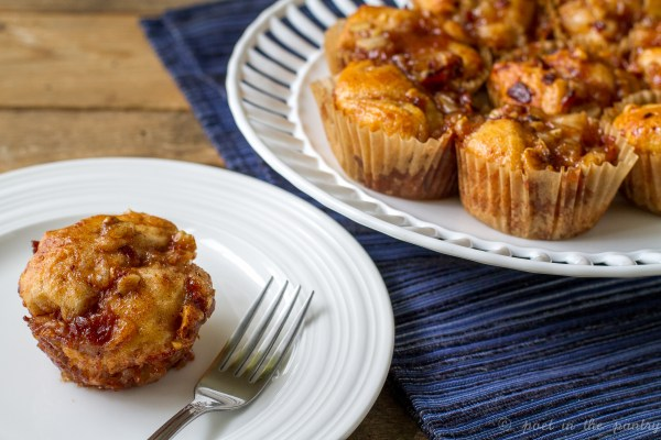 Individual Bacon and Apple Monkey Breads make morning extra special!